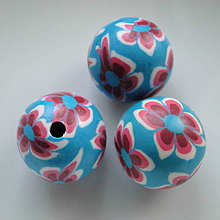 Korálky - FIMO 22mm-1ks (modrá/červená) - 5844359_