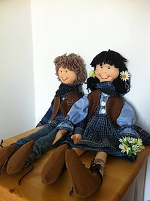 Bábiky - Handrové bábiky-na objednávku - 5842023_