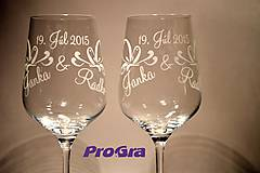 Lilien - svadobné poháre - 2ks