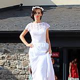 Šaty - Svadobné šaty z hrubej krajky a šifónu - 5842267_