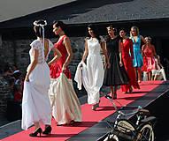 Šaty - Svadobné šaty z hrubej krajky a šifónu - 5842271_