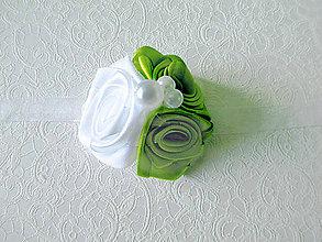 Pierka - svadobný náramok jabĺčkovozelený - 5844748_