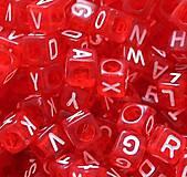 - Korálky abeceda kocky červené (balíček 500ks) - 5844137_