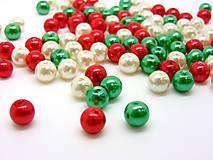 Voskované korálky perličky vo vianočných farbách 8mm (balíček 100ks)