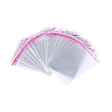 Obalový materiál - Priehľadné plastové sáčky samolepiace 9x6cm (balíček 10ks) - 5843965_