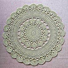Úžitkový textil - Svetlo zelený háčkovaný obrus - na objednávku - 5844309_