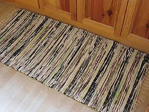 Úžitkový textil - Tkaný koberec 70 x 150cm tmavozelený - 5845168_