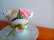 Dekorácie - Kvetináčik plechový- jednohubka 3. - 5848208_
