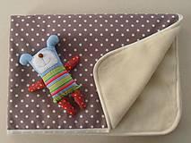 Textil - MERINO blanket De Luxe Star brown - 5846739_