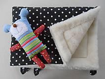 Textil - Black and White Merino Blankets 75 x 105 cm - 5847124_