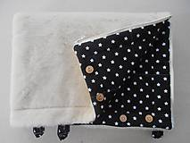 Textil - Black and White Merino Blankets 75 x 105 cm - 5847127_