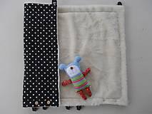 Textil - Black and White Merino Blankets 75 x 105 cm - 5847129_