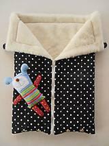Textil - Black and White Merino Blankets 75 x 105 cm - 5847130_