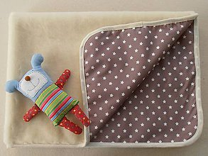 Textil - MERINO blanket De Luxe Star brown - 5846737_