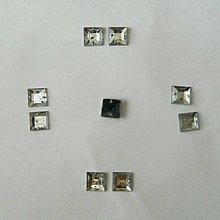 Iný materiál - našívacie kamienky štvorec 12mm kryštál - 5847406_