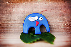 Sloník so srdiečkom - magnetka