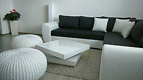 Úžitkový textil - Biely obrovský puf - 5848033_