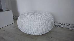 Úžitkový textil - Biely obrovský puf - 5848120_