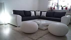 Úžitkový textil - Biely obrovský puf - 5848121_