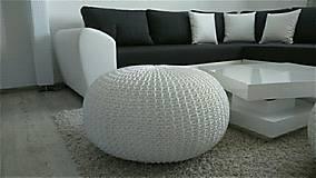 Úžitkový textil - Biely obrovský puf - 5848122_