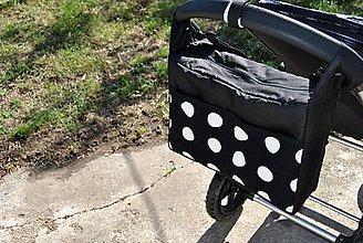 Veľké tašky - Dots - štýlová taška na kočík - 5851346_