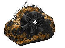 Taštičky - Spoločenská čipková dámská kabelka  0855D - 5853286_