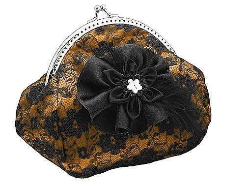 Spoločenská čipková dámská kabelka  0855D