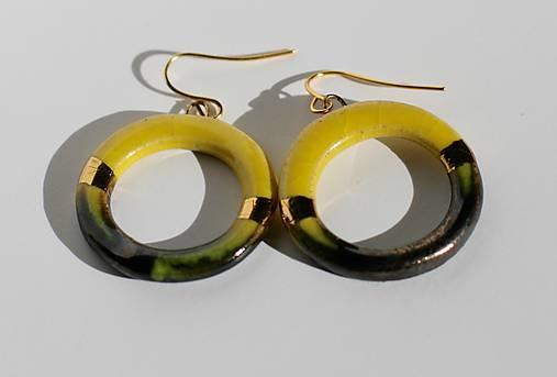 náušnice - zlaté krúžky