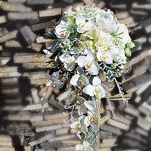 Kytice pre nevestu - Previslá svadobná kytica s orchideami - 5853110_