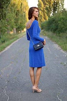 Šaty - Šaty s výstrihom na chrbte s dlhým rukávom - 5849443_