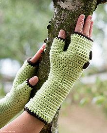 Rukavice - Bezprstové rukavice Zelené jabĺčko.. SUPER CENA - 5849748_