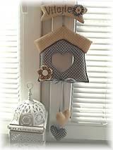 Dekorácie - Domček na dvere - 5849884_