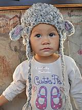 Detské čiapky - set ovecka ciapka sal rukavky - 5852855_