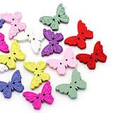 - Drevený gombík motýlik (balíček 50ks) - 5852329_