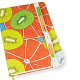 Papiernictvo - Zápisník A5 Orange Kiwi - 5850624_