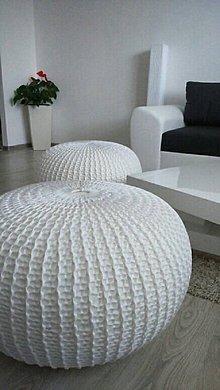 Úžitkový textil - Biely obrovský puf - 5848975_