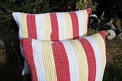 Úžitkový textil - Tkané obliečky na vankúše-pestré - 5851479_