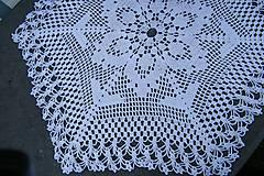 Úžitkový textil - Biely háčkovaný šesťuholník - 5852407_