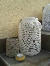 Svietidlá a sviečky - Veľke hačkované svietniky - 5849382_