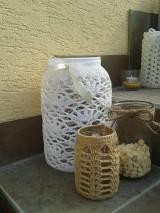 Svietidlá a sviečky - Veľke hačkované svietniky - 5849385_
