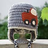 Detské čiapky - Zimná ušianka pre chlapca...