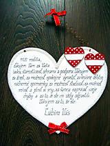 Tabuľky - Maľované drevené poďakovanie rodičom - 5855717_
