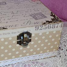 Krabičky - ČAJOVNICA/ ŠPERKOVNICA 4 priečinková (PAR AVION) - 5854185_