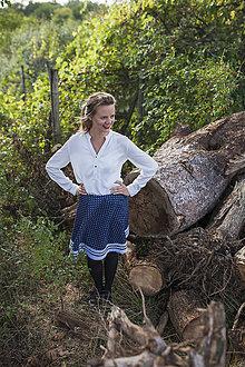 Sukne - Modrotlačová krásavica v bielom - 5853392_
