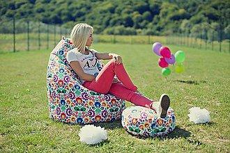 Nábytok - Dizajnový sedací vak TAKOY 3XL+podnožka zdarma poťah folk 74 - 5854046_