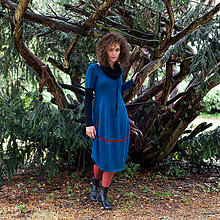 Šaty - LÁRY- barevné pletené šaty s dl.rukávem - 5855441_