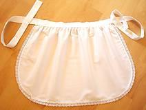 Iné oblečenie - Zástera pre nevestu biela - 5854268_