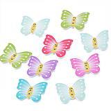 Galantéria - Drevený gombík motýlik (balíček 5ks) - 5853493_