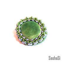 Odznaky/Brošne - Zelená brošňa - 5855410_