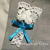 Pierka - Veľké svadobné pierka Creme - 5856643_